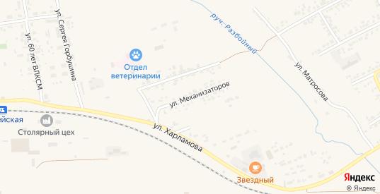 Улица Механизаторов в Уяре с номерами домов на карте. Спутник и схема онлайн