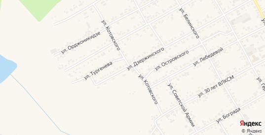 Улица Котовского в Уяре с номерами домов на карте. Спутник и схема онлайн