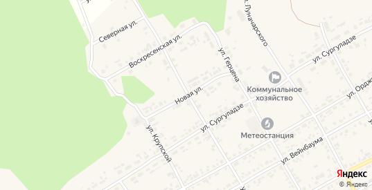 Новая улица в Уяре с номерами домов на карте. Спутник и схема онлайн