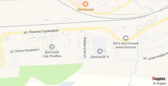 Фабричная улица в Уяре с номерами домов на карте. Спутник и схема онлайн