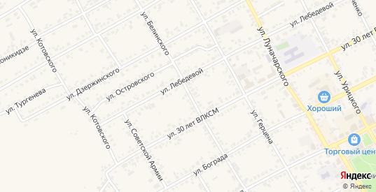 Улица Белинского в Уяре с номерами домов на карте. Спутник и схема онлайн