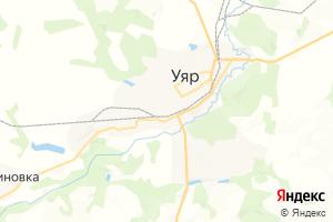 Карта г. Уяр Красноярский край