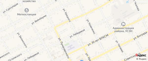 Улица Урицкого на карте Уяра с номерами домов