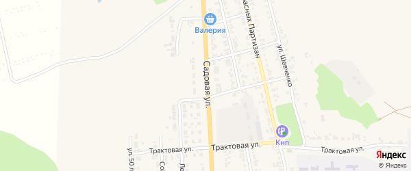 Садовая улица на карте Уяра с номерами домов