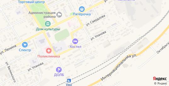 Улица 30 лет Победы в Уяре с номерами домов на карте. Спутник и схема онлайн