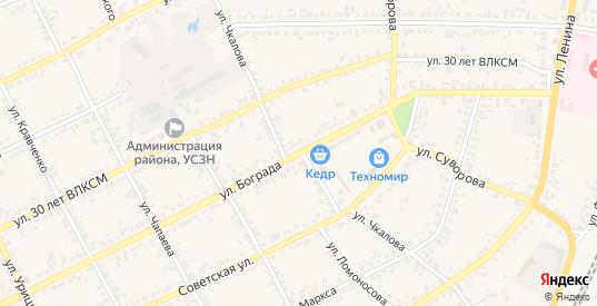 Улица Чкалова в Уяре с номерами домов на карте. Спутник и схема онлайн