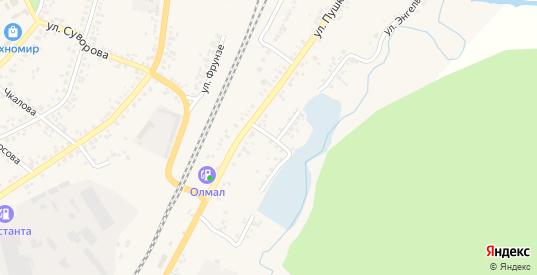 Береговая улица в Уяре с номерами домов на карте. Спутник и схема онлайн