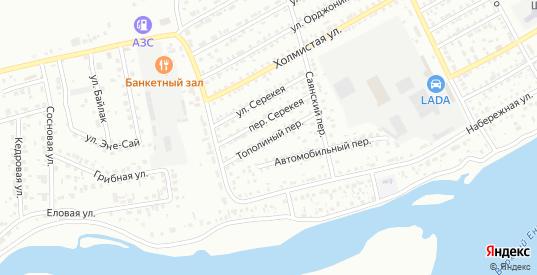 Тополиный переулок в Кызыле с номерами домов на карте. Спутник и схема онлайн