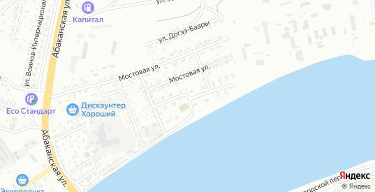 Паромная улица в Кызыле с номерами домов на карте. Спутник и схема онлайн