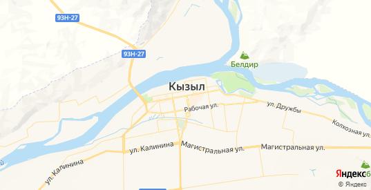 Карта Кызыла с улицами и домами подробная. Показать со спутника номера домов онлайн