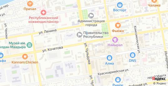 Торговая улица в Кызыле с номерами домов на карте. Спутник и схема онлайн
