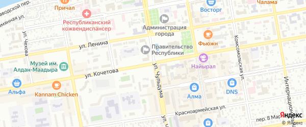 СНТ 7 Центральная улица на карте Кызыла с номерами домов