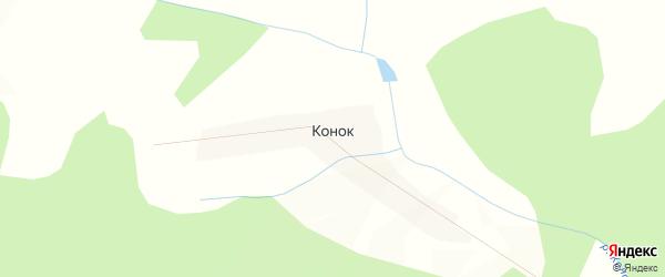 Карта поселка Конок в Красноярском крае с улицами и номерами домов