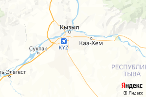 Карта г. Кызыл Республика Тыва