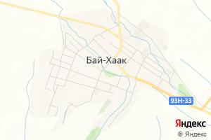 Карта с. Бай-Хаак Республика Тыва