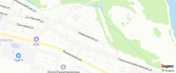 Нивелирная улица на карте Кызыла с номерами домов