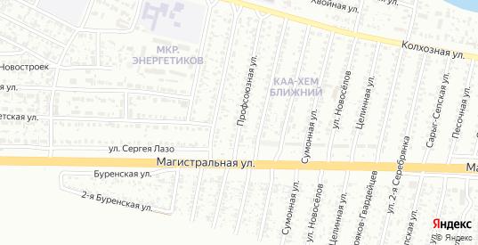 Профсоюзная улица в Кызыле с номерами домов на карте. Спутник и схема онлайн
