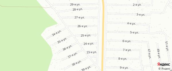 25-я улица на карте садового некоммерческого товарищества Садоводства N5 с номерами домов