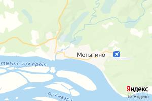 Карта пгт Мотыгино Красноярский край