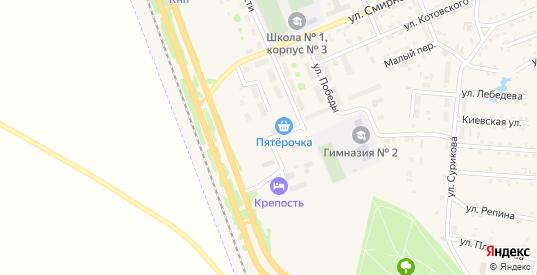 Улица Гагарина в Заозерном с номерами домов на карте. Спутник и схема онлайн