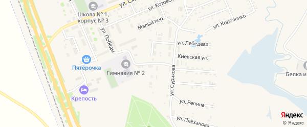 Высотинская улица на карте Заозерного с номерами домов