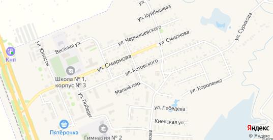 Целинная улица в Заозерном с номерами домов на карте. Спутник и схема онлайн