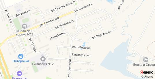 Улица Кольцова в Заозерном с номерами домов на карте. Спутник и схема онлайн