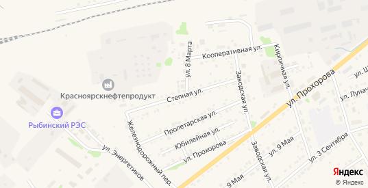 Степная улица в Заозерном с номерами домов на карте. Спутник и схема онлайн
