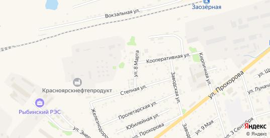 Улица 8 Марта в Заозерном с номерами домов на карте. Спутник и схема онлайн