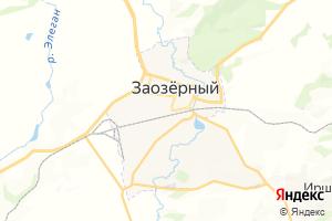 Карта г. Заозёрный Красноярский край