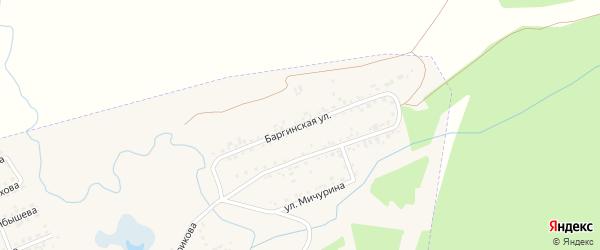 Баргинская улица на карте Заозерного с номерами домов