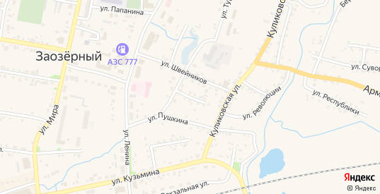 Улица Чаплыгина в Заозерном с номерами домов на карте. Спутник и схема онлайн