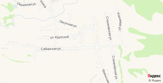 Улица Фрунзе в Заозерном с номерами домов на карте. Спутник и схема онлайн