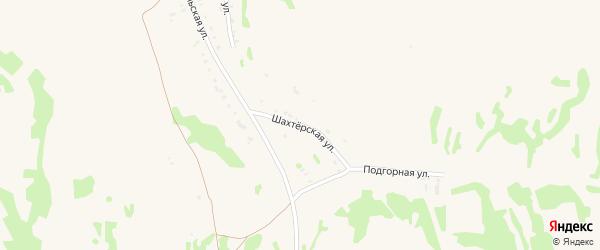 Шахтерская улица на карте Заозерного с номерами домов