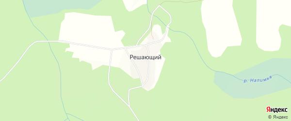 Карта Решающего поселка в Красноярском крае с улицами и номерами домов