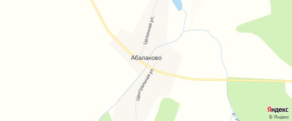 Карта деревни Абалаково в Красноярском крае с улицами и номерами домов