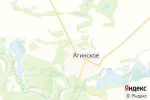 Карта с. Агинское Красноярский край