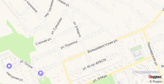 Улица 8 Марта в Бородино с номерами домов на карте. Спутник и схема онлайн