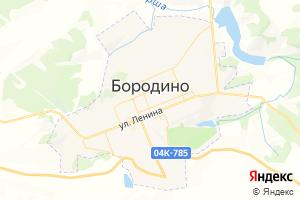 Карта г. Бородино Красноярский край