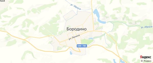 Карта Бородино с районами, улицами и номерами домов: Бородино на карте России