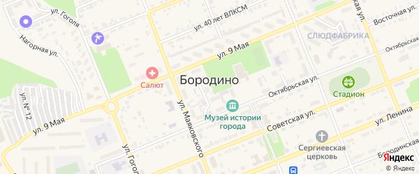 Целинная улица на карте территории Коммунальщика с номерами домов
