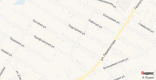 Камалинский переулок в Бородино с номерами домов на карте. Спутник и схема онлайн