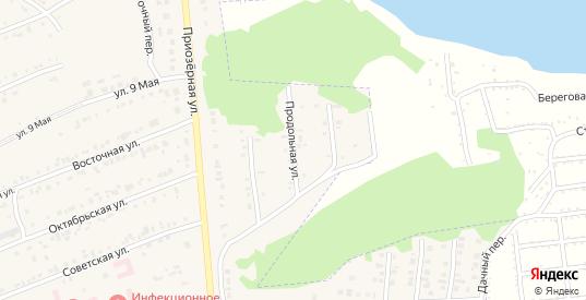 Продольная улица в Бородино с номерами домов на карте. Спутник и схема онлайн