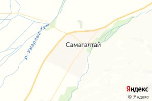 Карта с. Самагалтай Республика Тыва