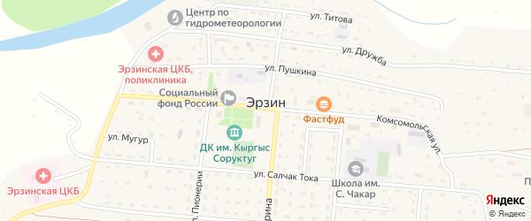 Местечко Чанагаш-Эрик на карте села Эрзина Тывы с номерами домов