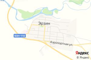 Карта с. Эрзин Республика Тыва