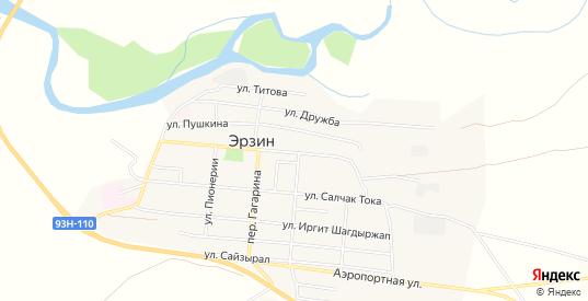Карта села Эрзин в республике Тыва