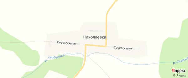 Карта деревни Николаевки в Красноярском крае с улицами и номерами домов