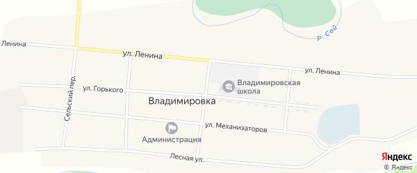 Местечко Чаа-Суг на карте села Владимировки Тывы с номерами домов