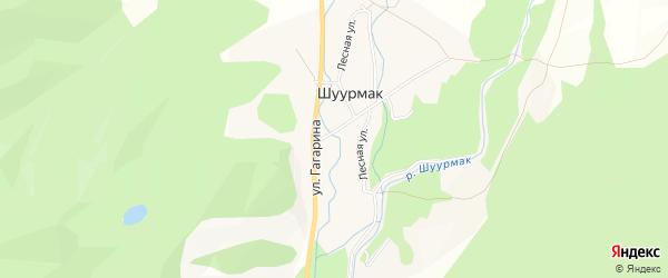 Карта села Шуурмака в Тыве с улицами и номерами домов